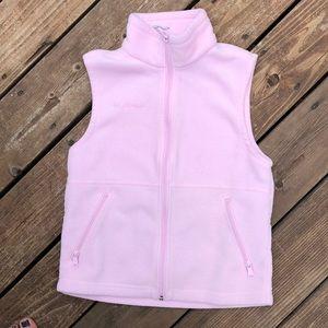 Girls Columbia Pink Fleece Vest